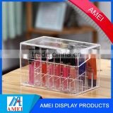 Alibaba gold supplier and super discount cube square 3mm makeup organizer acrylic cosmetic