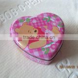 heart shape tin box size:120*120*45mm print tin boxes for cookies