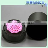 10cm single Pure color rose in box,13.5cm height,15cm diameters,real natural preserved roses for gifts