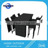 2016 the best sell rattan outdoor table bar table with 6 bar chairs