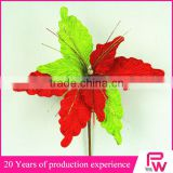 China factory supply crafts decorations cheap artificial poinsettia flower for christmas market
