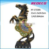 new arrival antique folk art resin horse statue for sale