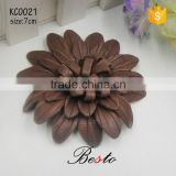Fashion wholesale cusotm colors handmade brown leather shoe flower