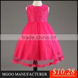 MGOO Cheap Clothes China Baby Clothing Baby Kids Pagaeant Dresses Lace For Girl Ball Gown Dress MGT042-2