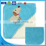 Trade assurance custom embroidery designs cotton terry fabric animal wholesale kids bath poncho hooded towel