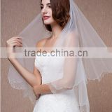 2015 New coming grace brief white wedding bridal veil, fast delivery cheap tulle bridal veil wedding headpiece