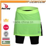 BEROY Gel Pad Cycling Skirt, Bike Racing Womens Cycling Pantskirt, Cycling Skort