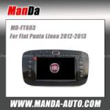 Manda 2 din car audio for Fiat punto Linea 2012-2013 in-dash head unit touch screen dvd gps autoradio