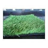 UV Resistance Soccer artificial turf fake grass decoration With 6 - 8 Years Lifetime