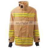 Aramid IIIA Firefighter Clothing uniform mens overcoat in fire retardant protection clothing workwear