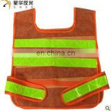 fluorescent mesh reflective work safety vests with pvc tape