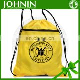 Eco-friendly promotional cheap custom polyester drawstring bag
