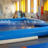 Commercial inflatable aqua ball swimming pool in blue
