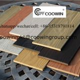 COOWIN capped composite solid deck TH-05, 3D embossing, manufactured by using twin screw extrusion process,can be used as wall board or fence plank