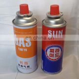 factory price butane gas cartridge and butane canister without flaring after two minites'pre-heating