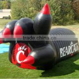 Newest inflatable claw/paw tunnel tent inflatable football tunnel tent inflatable tunnel entryway