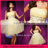 Stunning Beaded Wasitline Strapless A Line Cheap Homecoming Dress