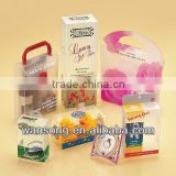 Various designs colorful printed plastic pvc box ,waterproof pvc clear box, hard storage packing gift box