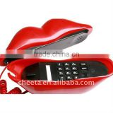 Unique Red Sexy Lips Land Line Telephone Phone