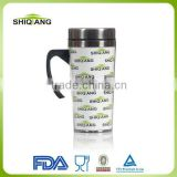 450ml stainless steel travel mug paper insert coffee tumbler with handle                                                                         Quality Choice