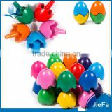 Kids Creative Multi Color Egg Twist Shape Crayon