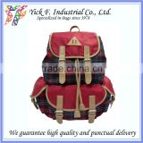 Muti-compartment Muti-pockets Plaid Polyester Picnic Backpack