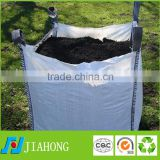 Fibc jumbo bag 90*90*90CM or customer order 1ton 1.5ton pp jumbo bag for sand/cement/ore/soil with strong handle