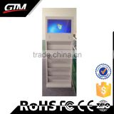 "27"" Shopping Mall Lcd Touch Screen All In One Pc Kiosk Multimedia Wifi Bluetooth Brochure Holder Industrial Computer"