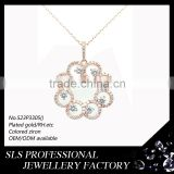 925 sterling silver jewelry wholesale rose gold plated women vogue jewelry wedding necklace