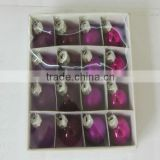 purple christmas ornament,a set of 26,wholesale for promotion,decorative glass ornaments