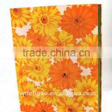 Printed Cloth Wrapping Ring Binder Desktop File Holder for Office Stationery Cardboard A4 or FC Size