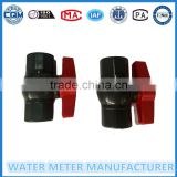 DN15mm plastic body ball valve for accessories of water meter