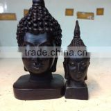 Buddha Head made of Black resin for decoration