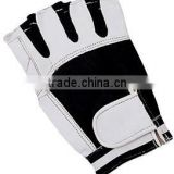 2015 RACING CYCLE GLOVES GENUINE LEATHER MATERIAL BLACK & WHITE COLOR