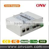 ShenZhen ONV Technologies company Gigabit Single Mode Single Industrial fiber optic to rj45 media converter