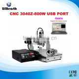 Best price USB port wood furniture cnc router woodworking machine 3040 Z-USB with 800W spindle also for PCB acrylic aluminum