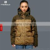 woman nylon taslon twill warm jacket out door casual wear