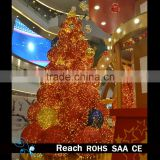 Giant christmas tree glitter light balls Combination Tree Metal Frame Christmas Tree for Shopping mall atrium decoration