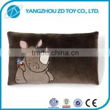 lovely soft christmas gift new style safely plush cow cushion