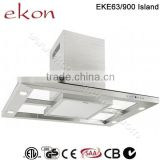 CE CB SAA GS Approved 90cm Stainless Steel European Design Kitchen Island Hood