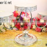 Charming design mirror glass, crystal & metal meterial wedding cake stand for wedding & party decoration(MH-2019)