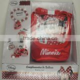 OEM-5PCS MINNIE HAIR ACCESSORIES SET(BRACELET, RING, PONYTAIL HOLDER,BAG)