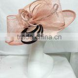 Sinamay/Church/Derby/Kentucky/Wedding hat-Pink/black