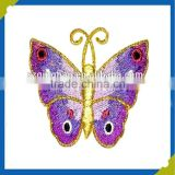 lively pretty butterfly embroidery sew hook green sport patches