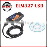 Factory price OBD2 OBDII cable connector usb code reader usb elm327 version 1.5a usb diagnostic scanner with high quality