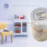 Ningbo unbreakable transparent piggy bank with coin counter