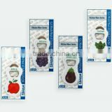 Promotion cheap fruits opener&fridge magnet for selling