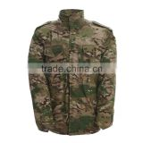 Custom men woodland camouflage military uniforms army winter jacket M65