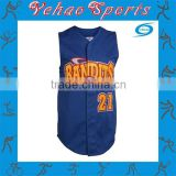 2015 New goods mesh sleeveless baseball jersey adult wearing