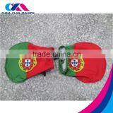 wholesale spandex knit print car wing mirror flag